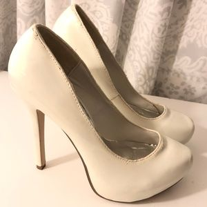 Styluxe White Patent Stiletto High Heels